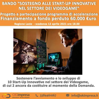 Sostegno alle start-up innovative nel settore dei videogame