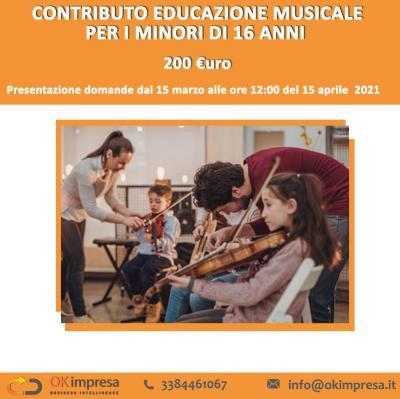 Contributo educazione musicale per i minori di 16 anni