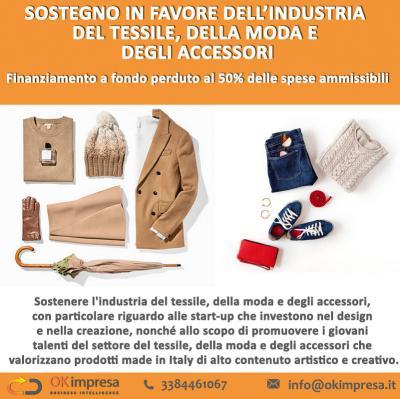 Sostegno in favore  dell'industria del tessile,  della moda e degli accessori