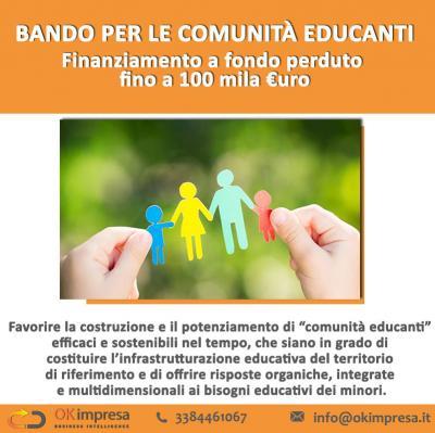 Bando per le comunità educanti