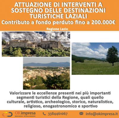 Sostegno alle destinazioni turistiche del Lazio